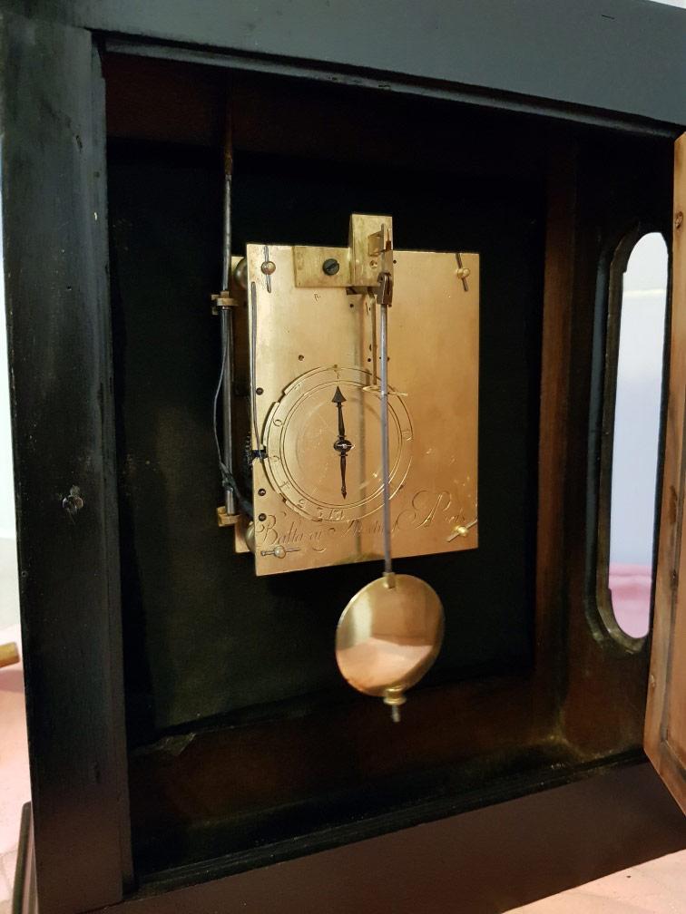 Magnifique pendule restaurée signée par l'horloger Balthazar Martinot